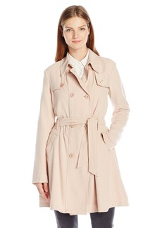 Guess Women's Belted a Line Manning Coat