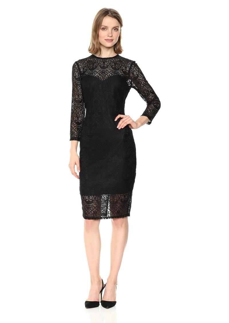 GUESS Women's Black Lace Dress