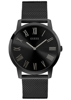 Guess Men's Black Stainless Steel Mesh Bracelet Watch 44mm