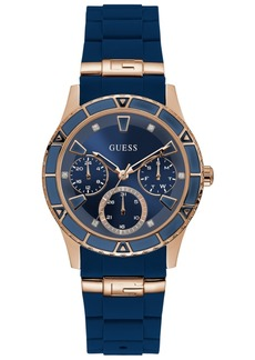 Guess Women's Blue Silicone Strap Watch 38mm