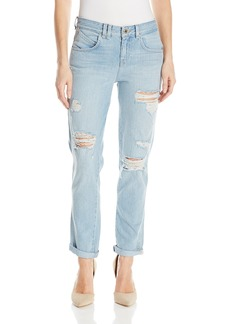Guess Women's Boy Fit Jean Super Bleach with Destroy 25 RG