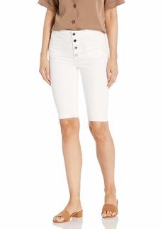 GUESS Women's Button Fly High Rise Bermuda Short