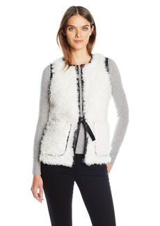 GUESS Women's Camryn Faux Fur Vest  M