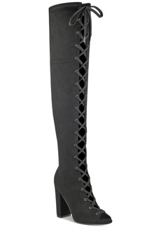Guess Women's Casidi Lace-Up Over-The-Knee Boots Women's Shoes