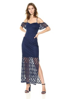 GUESS Women's  Chevron LACE Maxi Dress