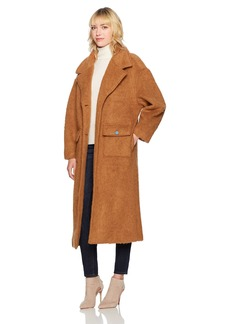 GUESS Women's Clinton Fuzzy Overcoat