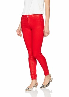Guess Women's Coated Sexy Curve Jean coated lipstick red