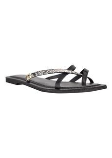 Guess Women's Corabel Toe Ring Flat Sandals Women's Shoes