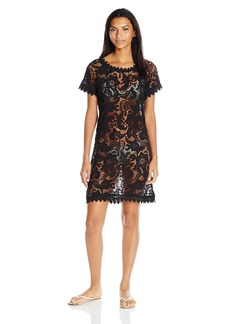 GUESS Women's Crochet Cover Up Dress  M