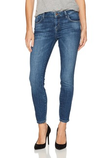 GUESS Women's Crop Mid Jean Medium wash