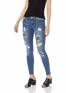GUESS Women's Crystal Fishnet Sexy Curve Jean Starling wash