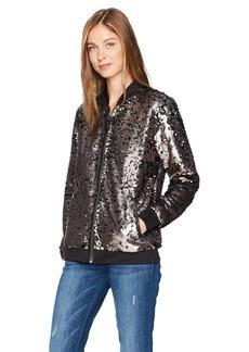 GUESS Women's Deliah Sequin Bomber Jacket