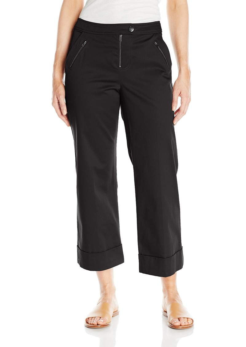GUESS Women's Devon Square Crop Trouser Jet Black A A