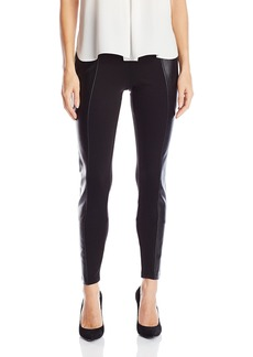 Guess Women's Dorri Ponte Faux Leather Legging  M