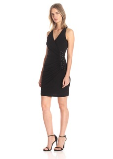 GUESS Women's Dress with Side Ruching Detail
