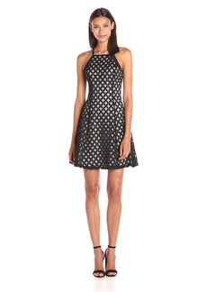 GUESS Women's Drop Waist Dress with Diamond Illusion