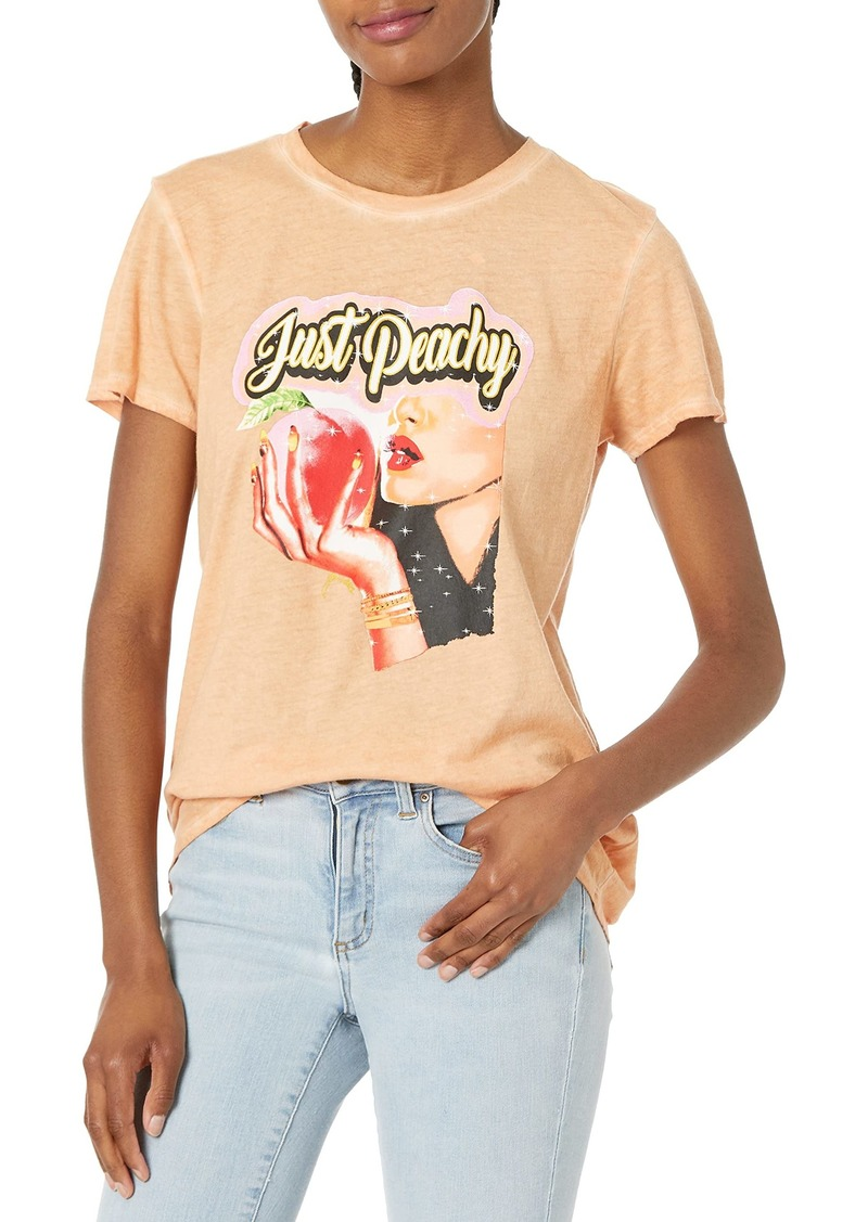 GUESS Women's Eco Short Sleeve Just Peachy Easy Tee