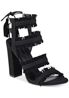 Guess Women's Econi Strappy Block-Heel Dress Sandals Women's Shoes
