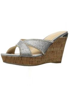 GUESS Women's Eleonora4 Wedge Sandal  9.5 Medium US