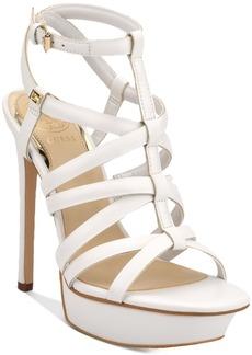 Guess Women's Eleri Strappy Platform Dress Sandals Women's Shoes