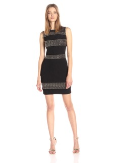 GUESS Women's Embellished Dress With Mesh