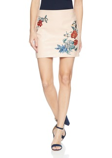 GUESS Women's Embroidered Pu Skirt