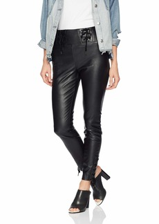 GUESS Women's Envy Lace Up Pu Pants