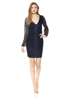 GUESS Women's  Floral Mix LACE Dress