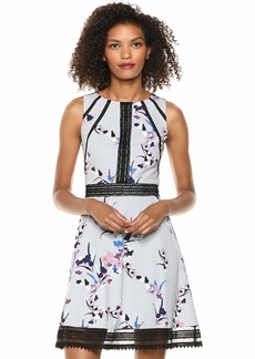 GUESS Women's  Floral Print Knee-Length Cocktail Dress