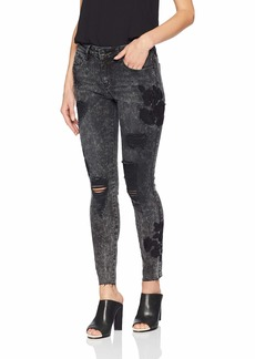 Guess Women's Floral Sexy Curve Jean carbon black