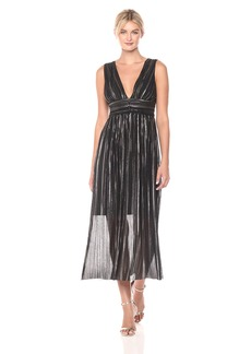 GUESS Women's Foiled Chiffon Dress with Deep V-Neck