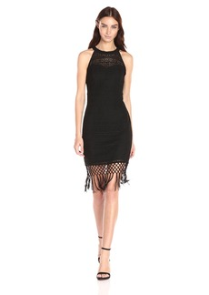 GUESS Women's Fringe Illusion Dress