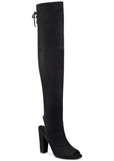 Guess Women's Galle Over-The-Knee Peep-Toe Boots Women's Shoes