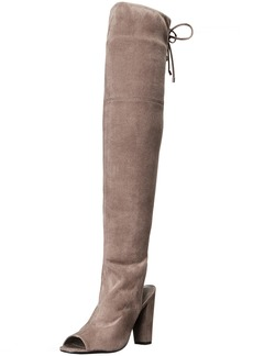 GUESS Women's Galle Riding Boot Gray  M US
