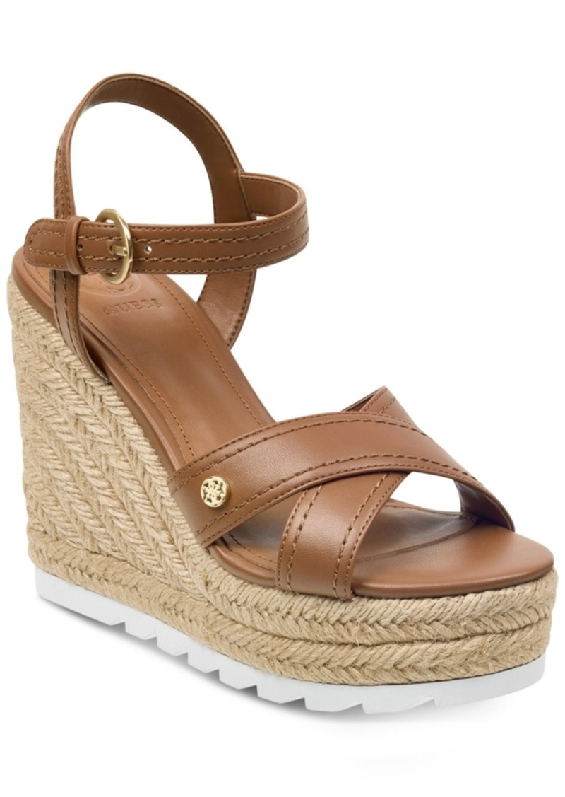 8ae9098e38e SALE! GUESS Guess Women s Genisi Espadrille Wedge Sandals Women s Shoes