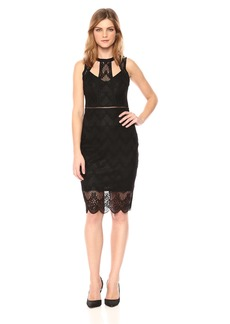 GUESS Women's  GEO Floral LACE Dress
