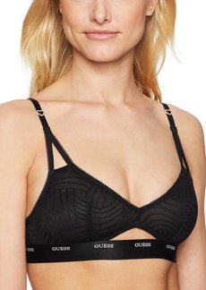 GUESS Women's Geometric Lace Triangle Bra Bra  L