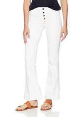 Guess Women's Gilded White 1981 Flare Jean Pants -optic white