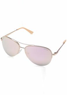 GUESS Women's Gu7468 Aviator Sunglasses
