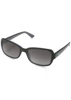 GUESS Women's Gu7474 Rectangular Sunglasses  56 mm