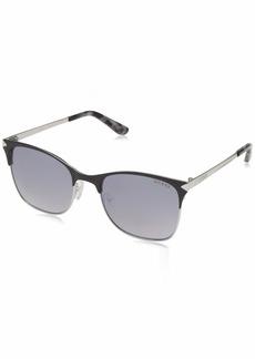 GUESS Women's Gu7517 Square Sunglasses matte black & smoke mirror 53 mm