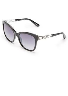 GUESS Women's Gu7536-s Cateye Sunglasses black & gradient smoke 55 mm