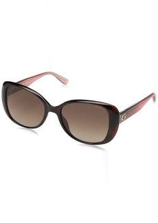 GUESS Women's Gu7554 Square Sunglasses  54 mm
