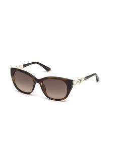 GUESS Women's Gu7562 Square Sunglasses  55 mm