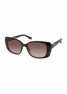 GUESS Women's GUA00006 Rectangular Sunglasses dark havana