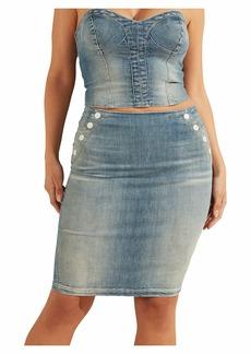 GUESS Women's Gwenda Denim Pencil Skirt