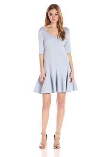Guess Women's Half Sleeve Aislynn Scuba Dress  L R