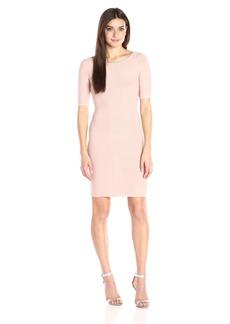 GUESS Women's Half Sleeve Allison Shadow Dress  M R
