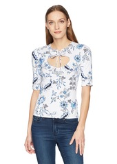 GUESS Women's Half Sleeve Daphney Top  XS