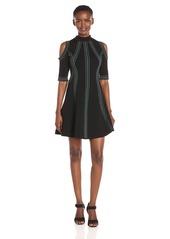 GUESS Women's Half SLV Mirage Jacquard Dress  S